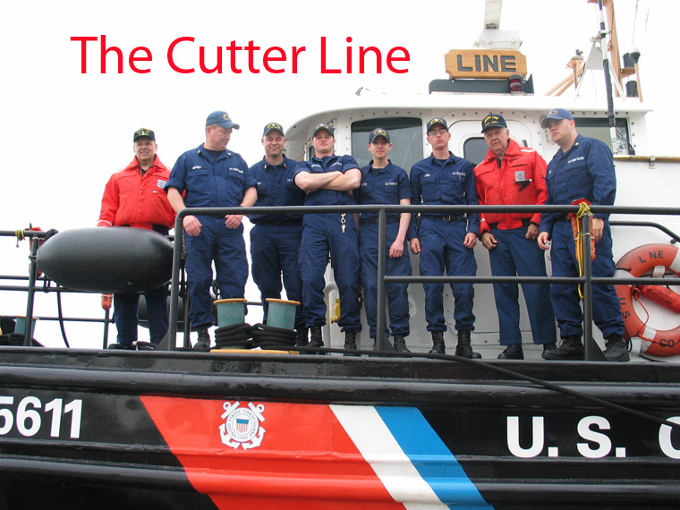 A Photo of the USCG Cutter Line, Photo taken on the way out to greet the Queen Marry 2 on its maden voyage.